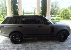 matte black & grey range rover