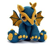 Top 10 crochet animals patterns - amigurumi dragon by PAtchwork Moose: download at LoveCrochet