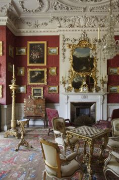 """The Cabinet at Felbrigg Hall, Norfolk. This was built as the """"Drawing Room"""" in part of the 1680s wing and altered in 1751."""