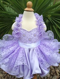 Pageant Baby doll Lavender Glitz or natural Ruffle by MyElleyBee, $200.00
