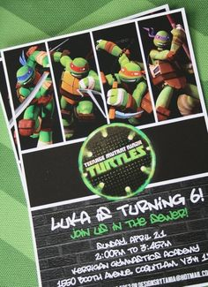 Teenage Mutant Ninja Turtles Birthday Party Ideas | Photo 1 of 25 | Catch My Party