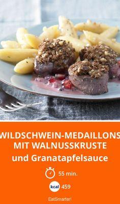Wildschwein-Medaillons mit Walnusskruste