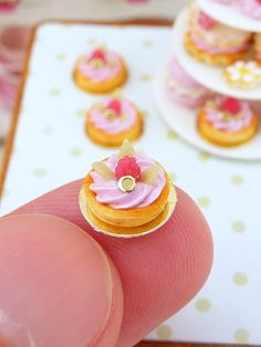 Pink Raspberry Mousse Tartlet - 12th Scale Miniature Food