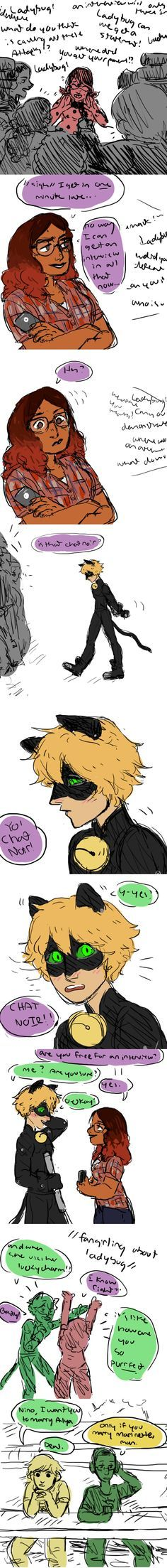Adrien- I want you to marry Alya Nino- Only if you marry Marionette Adrien- Deal XD I laughed so much hahaha Miraclous Ladybug, Ladybug Comics, Lady Bug, Mlb, Kevedd, Miraculous Ladybug Funny, Cat Noir, Pokemon, Kids Shows