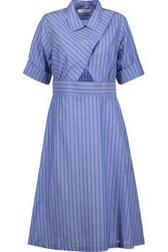 Sandro Robyn Cutout Striped Cotton Poplin Dress - Gah, I love that little midriff peek!