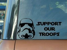 Support Our Troops Car Decal