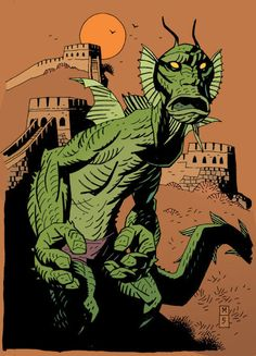 Fin Fang Foom by Mike Mignola...love his shorts...