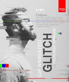 Buy Gif Animated Glitch - Photoshop Templates by safisakran on GraphicRiver. Gif Animated Glitch – Photoshop Templates : A professional template, easy to use, just put the image and it's ready,. Glitch Effect Photoshop, Glitch Text, Glitch Gif, Photoshop Effects, Photoshop Actions, Photoshop Design, Photoshop Tutorial, Photoshop For Photographers, Photoshop Photography