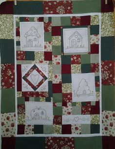 2013 Houses BOM Quilted Wall Hanging - Quiltecke