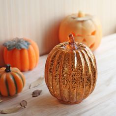 Romingo Mercury Glass Lighted Pumpkin with Timer for Fall and Home Decor, Thansgiving gift, Fall Wedding Table Decor, Wedding Reception Flowers, Fall Wedding Decorations, Fall Wedding Colors, Fall Decor, Autumn Wedding, Glass Pumpkins, White Pumpkins, Harvest Decorations