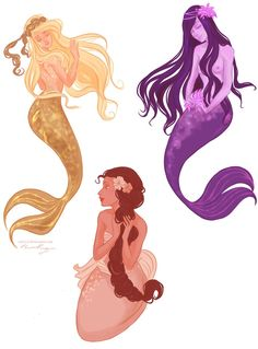 andells' mermaids  by *viria13