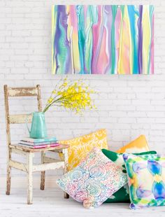 Beautiful pastels and sweeping lines create a gorgeous, silky scape in 'Candy Stripes.' The bright hues of this piece can be used to animate a range of modern spaces and the artwork itself can be displayed so the stripes either run vertically or horizontally.   The artwork is professionally printed on 100% cotton canvas, then stretched and wrapped around a 38mm wooden frame and comes ready for instant hanging.