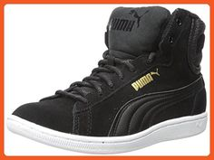 PUMA Women's Vikky Mid Twill Sfoam Fashion Sneaker, Puma Black/Puma Black, 8 M US - Sneakers for women (*Amazon Partner-Link)