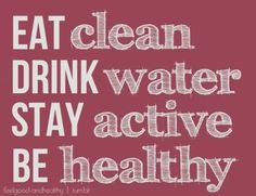 the way to a healthy life ;)