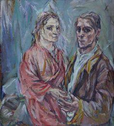 'Double Portrait (Oskar Kokoschka and Alma Mahler)' by Oskar Kokoschka, 1912-13