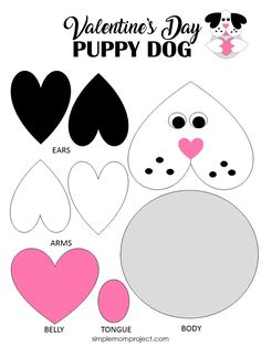 art for kids See this post for a FREE printable template to make your own Valentines Day Puppy Dog! This simple DIY Dog Valentines Day card is an easy craft for toddlers, big kids and adults to make. Great for classroom Valentines Day art projects. Kinder Valentines, Toddler Valentine Crafts, Puppy Valentines, Valentines Bricolage, Easy Toddler Crafts, Valentine's Day Crafts For Kids, Valentines Day Activities, Valentines Art For Kids, Diy Valentine