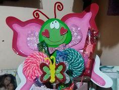 Caja con dulces. Mariposa