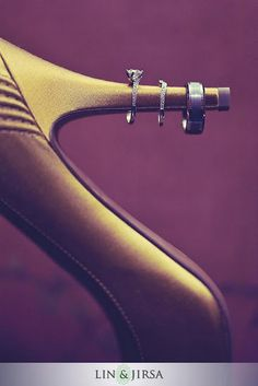Photography by Lin and Jirsa.  Abiade's heels:-) #wedding #rings
