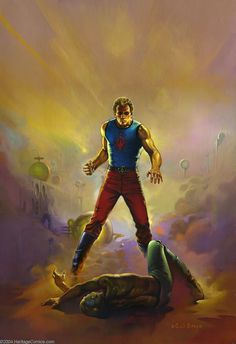 Original Comic Art:Covers, Ken Kelly - Flash Gordon Citadels On Earth Painting Original Art(1981). Ken Kelly painted this cover for the David Hagberg ... Image #1