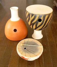 Clay musical instruments - Instrumentos musicales de arcilla