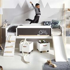 Unique Kids Beds limited edition play, learn sleep bed by lifetime - HYETKTD - Home Decor Ideas Unique Kids Beds, Cool Beds For Kids, Play Beds, Kids Bunk Beds, Kids Beds Diy, Kids Bed With Slide, Childrens Bed With Slide, Bed Slide, Cama Junior