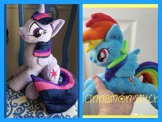 mlp plushie  Twilight and Rainbow Seeking  home by CINNAMON-STITCH.deviantart.com on @DeviantArt