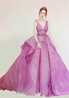 Dress Design Sketches, Fashion Design Sketchbook, Fashion Design Portfolio, Fashion Design Drawings, Fashion Sketches, Fashion Drawing Dresses, Fashion Illustration Dresses, Fashion Dresses, Debut Gowns