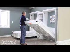 Bedder Way Twin Murphy Bed Operation Example Murphy Bed Frame, Murphy Bed Office, Murphy Bunk Beds, Murphy Bed Desk, Modern Murphy Beds, Murphy Bed Plans, Guest Bedroom Decor, Home Bedroom, Guest Room
