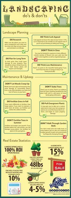 Landscaping Do's and Don'ts [Infographic] #SimpleLandscaping