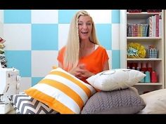 A throw pillow is one of the easiest projects to sew, and it's one of the easiest ways to redecorate a room! So stop buying, and let's make one! I'll show yo...