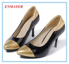 Cheap pumps air, Buy Quality leather sole pumps directly from China pumps leopard Suppliers:    ENMAYER  Free Shipping 2014 Hot Sale Women large size 34-43 Shoes, Sponge Cake Sole, Ladies Casual Shoes 3 Color plat