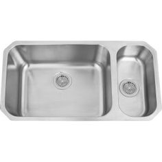 8a8450f7b577 Barclay KSSDB2528-SS Harper Stainless Steel Undermount Double Bowl Kitchen  Sinks