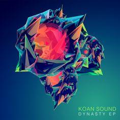 KOAN Sound EP Cover by Justin Maller, via Behance