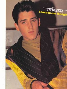 JONATHAN KNIGHT pinup – No smile! Pimping and looking cool!