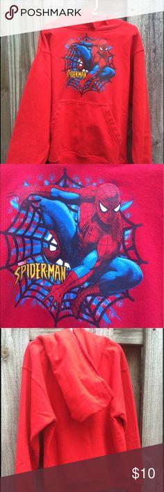 boys hoodie . Spider-Man . Like new ! Red , great shape Marvel Shirts & Tops Sweatshirts & Hoodies