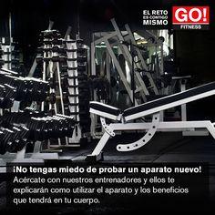 ¡No tengas miedo! #gofitness #clasesgo #ejercicio #gym #fit #fuerza #flexibilidad #reto #motivate