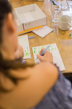 Kalligrafie & Lettering Workshop mit Ana Luiza.   Foto:Katharina Schnee