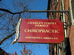 Charles Street Family Chiropractic, Boston, MA. Loved the spine on the sign! My picture from 2007.