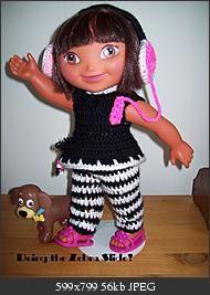 """Doing the Zebra Slide-15"""" doll #Dora #Crochet #Outfit!"""