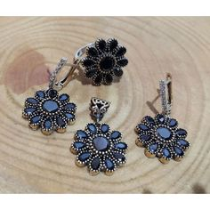 Antique Sterling Silver Drops Women Set #silver #set #ottoman #wholesale #women #fashion #turkish #handmade #jewelry #jewellers #jewellery #jewel #ruby #olw #emerald #sapphire #gemstone