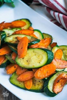 Carrots and zucchini sautéed in olive oil with an abundance of spices, really do make dinner come alive. Perfect when paired with an entire baked chicken. dinner recipes keto Sautéed Carrots And Zucchini Veggie Side Dishes, Vegetable Dishes, Food Dishes, Zucchini Vegetable, Chicken Side Dishes, Easy Side Dishes, Food Food, Dinner Side Dishes, Summer Side Dishes