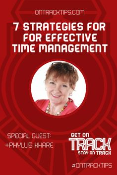 "7 Strategies for Effective Time Management http://jtw.bz/AKHOA1 This week on ""Get on Track, Stay on Track"", we're going to talk about Time Management. We'll be touching on some concepts of how to value your time more, and we'll be discussing tools that will help you to manage your time in your online business. http://jtw.bz/AKHOA1 #OnTrackTips"