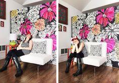 Alisa Burke's movable art walls ...fantastic!