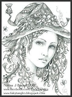 Fairy Tangles: Spring Witch ACEO/ATC
