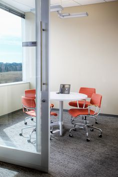 Webroot Software   PRODUCT: DIRTT Segmented Glass Meeting Room With Sliding  Barn Door.