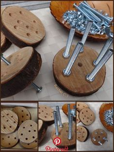 "DIY Resources - Stimulating Learning Using the wooden sewing discs with nuts and bolts - from Rachel ("",) Motor Skills Activities, Montessori Activities, Fine Motor Skills, Preschool Activities, Learning Resources, Montessori Education, Kindergarten Games, Finger Gym, Early Years Classroom"