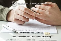 Uncontested Divorce  Less Expensive and Less Time-Consuming