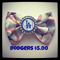 Los Angeles Dodgers baseball print handmade by Bowliciousdivas, $5.00