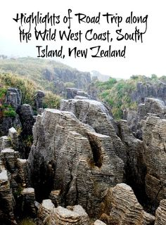 Driving from Wanaka, through the Haast Pass, to Franz Josef Glacier and onwards the wild west coast to Punakaiki Rocks, amazing geological formations. They are aptly called pancake rocks. Definitely a New Zealand Must Do!