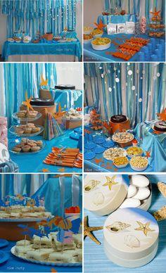 beach themed kids birthday party | this cute beach theme fiesta found at nice party blog beach theme ...